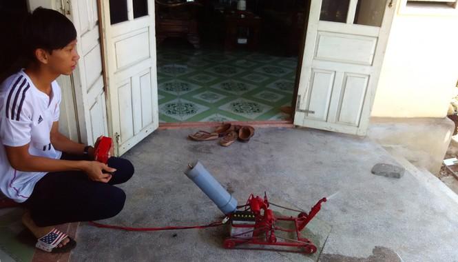 Rô-bốt cứu hỏa của Tuấn. Ảnh: Nguyễn Trang