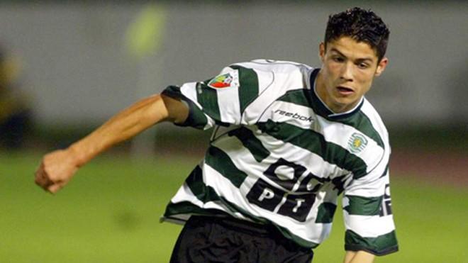 Ronaldo thời còn khoác áo Sporting Lisbon. Ảnh: GETTY IMAGES