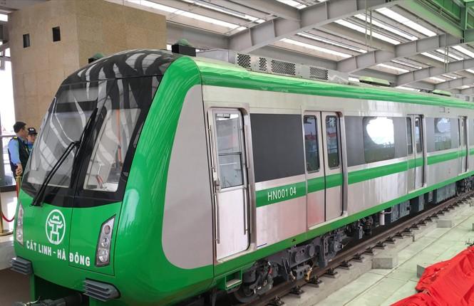 Đã có 3/13 đoàn tàu dự án đường sắt Cát Linh - Hà Đông được nhập về dự án.