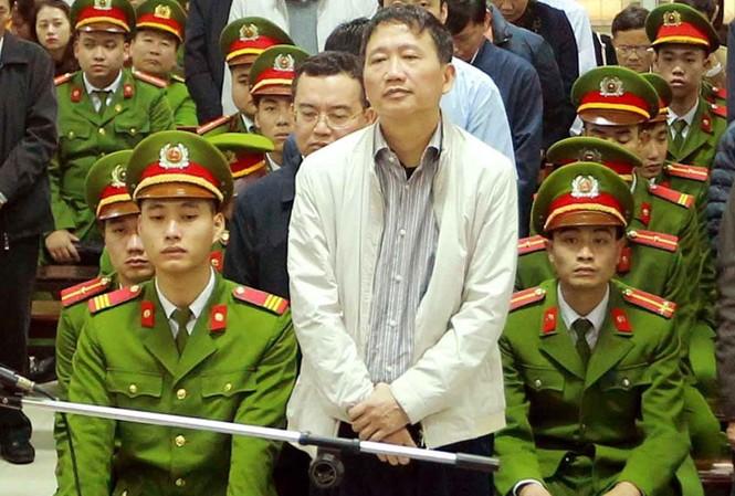 Trịnh Xuân Thanh trong một phiên xét xử tại tòa án nhân dân, TP Hà Nội. Ảnh: An Đăng.