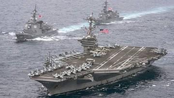 Tàu sân bay Mỹ USS Carl Vinson trong một chuyến đi qua vùng biển Tây Thái Bình Dương. Ảnh: Getty Images