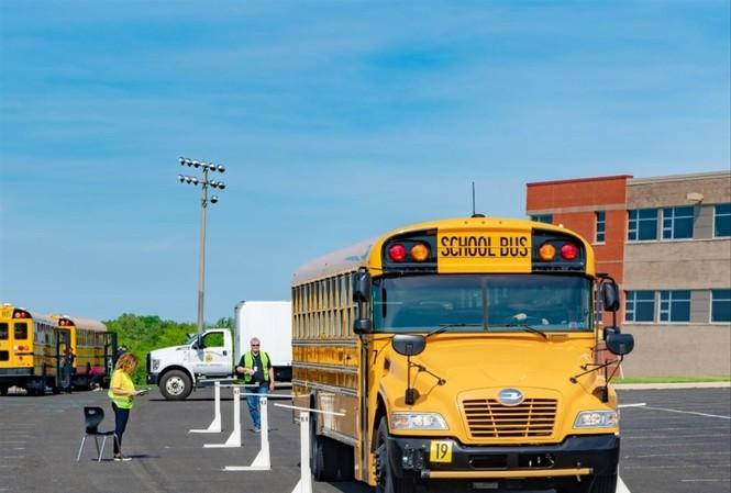 Xe buýt học sinh của Mỹ. Ảnh minh họa