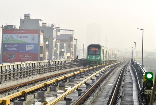 Tuyến đường sắt trên cao Cát Linh - Hà Đông chưa đi vào hoạt động. Ảnh: Minh Châu