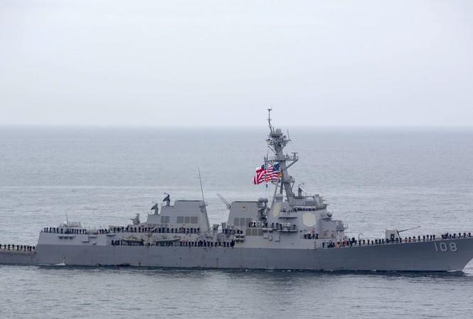Khu trục hạm Wayne E. Meyer được nói là vừa tới gần quần đảo Hoàng Sa Ảnh: news.usni.org