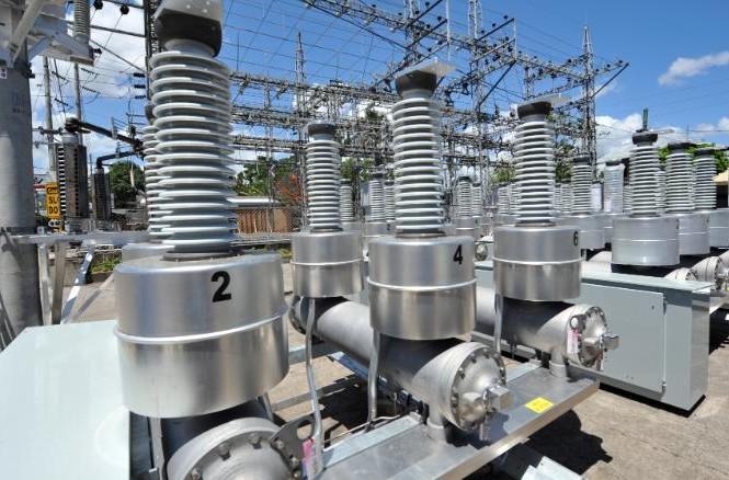 Các máy biến áp tại một trạm điện ở thành phố Cebu, miền Trung PhilippinesẢnh: Getty