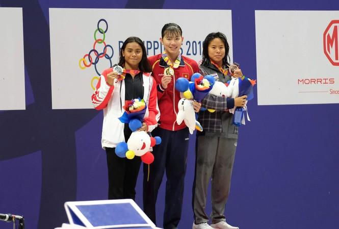 Ánh Viên dù không hoàn thành chỉ tiêu huy chương tại SEA Games 30 nhưng cô vẫn là VĐV giàu thành tích nhất của TTVN. Ảnh H.M