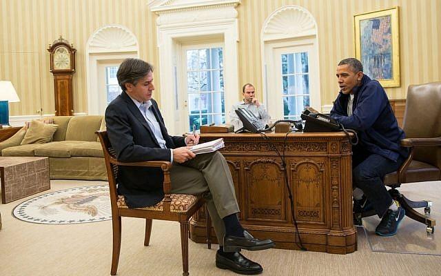 Ông Antony Blinken (trái) và Tổng thống Obama