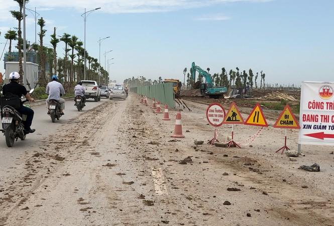 Dự án BT trục đường phía Nam vừa thi công chậm, vừa chưa có kết nối với đường giao thông ở điểm cuối. Ảnh: Anh Trọng