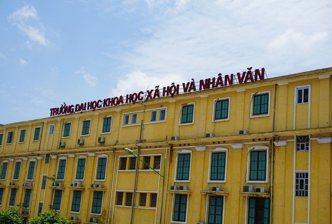Trường Đại học Khoa học Xã hội và Nhân văn vẫn chưa di chuyển hẳn. Ảnh: Hồng Vĩnh