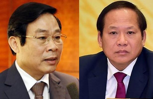 Hai cựu Bộ trưởng Bộ TT&TT Nguyễn Bắc Son, Trương Minh Tuấn