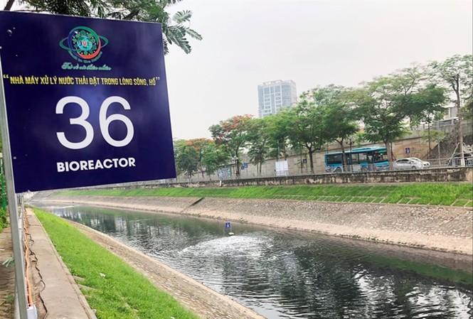 Công ty Thoát nước Hà Nội dự kiến dùng hơn 150 tỷ đồng để bơm nước sông Hồng vào hồ Tây, tạo dòng chảy cho sông Tô Lịch. Ảnh: Anh Trọng
