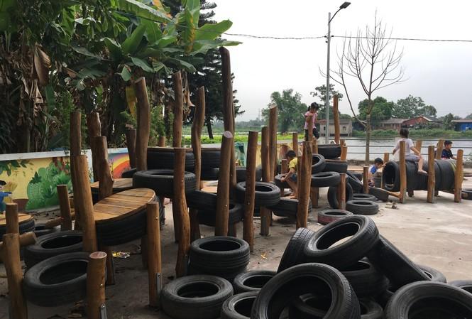 Sân chơi Nhà văn hóa Hà Lỗ (Đông Anh) do TPG thi công được UNESCO VN trao giải 3 về Nghệ thuật tái chế