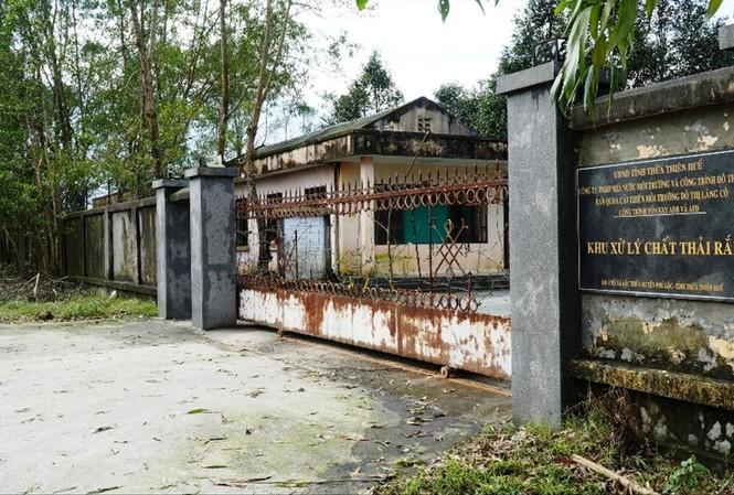 """Khu xử lý chất thải rắn """"triệu đô"""" tại Lộc Thủy (TT-Huế) """"đắp chiếu"""" từ hơn 3 năm nay"""