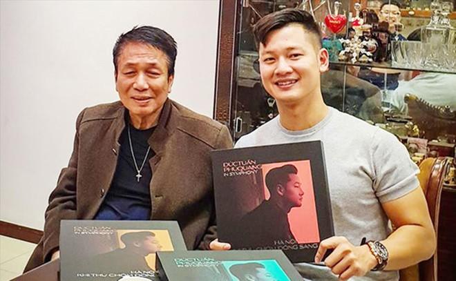 Đức Tuấn và Phú Quang trong buổi giới thiệu album Đức Tuấn- Phú Quang Symphony