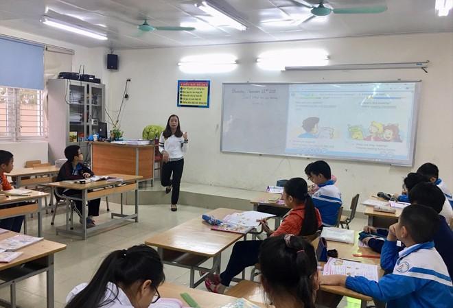 Một tiết học tiếng Anh của học sinh tiểu học