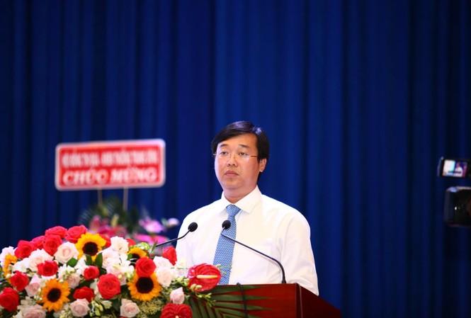 Anh Lê Quốc Phong, Bí thư thứ nhất T.Ư Đoàn phát biểu tại Đại hội, ngày 18/8. Ảnh: P.V