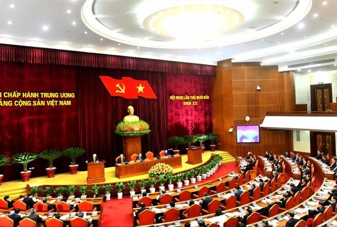 Hội nghị Trung ương 14 diễn ra vào giữa tháng 12/2020. Ảnh: TTXVN