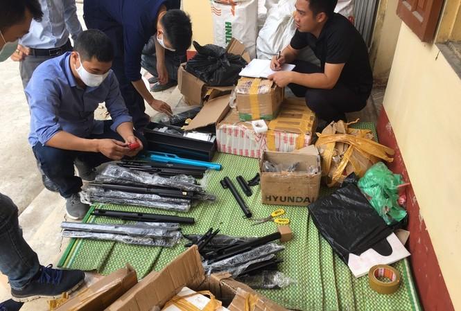 Thu giữ 300kg linh kiện vũ khí tự chế tháng 4/2020 tại Hà Nội