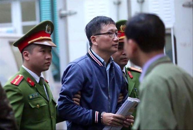 Trịnh Xuân Thanh trong một phiên tòa tại Hà Nội
