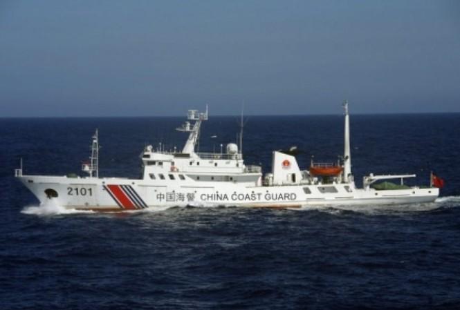 Một tàu hải cảnh Trung Quốc đi vào vùng biển gần quần đảo Senkaku/Điếu Ngư mà Tokyo đang quản lý. Ảnh: Asia Times
