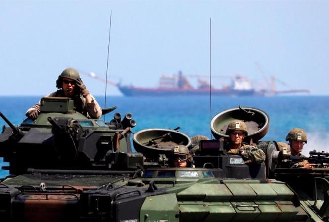 Lính Mỹ tham gia một đợt diễn tập ở Philippines. Ảnh: Reuters