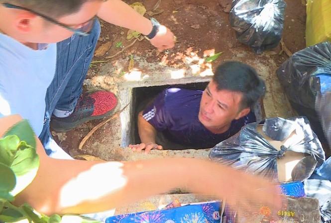 Hầm trú ẩn trong vườn nhà Luân