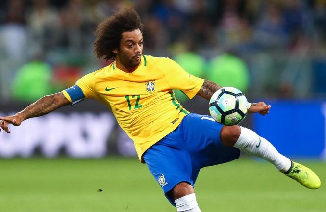 Marcelo sẽ đeo băng đội trưởng Brazil trước Thụy Sĩ.