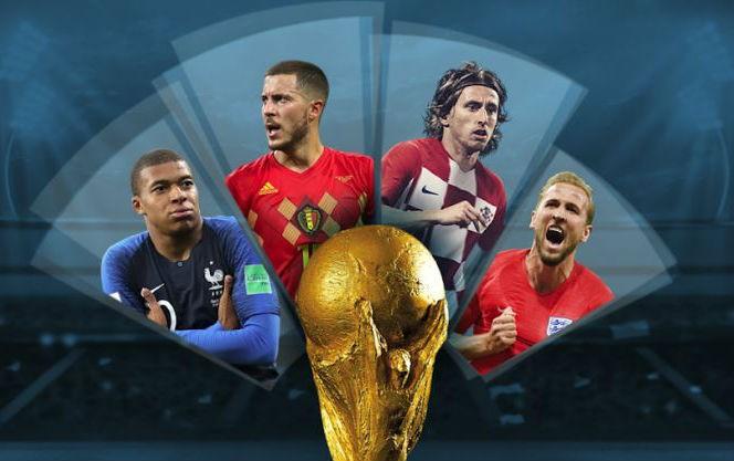 4 đại diện lọt vào Bán kết World Cup 2018