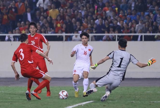Việt Nam hòa Triều Tiên với tỷ số 1-1. Ảnh: Như Ý