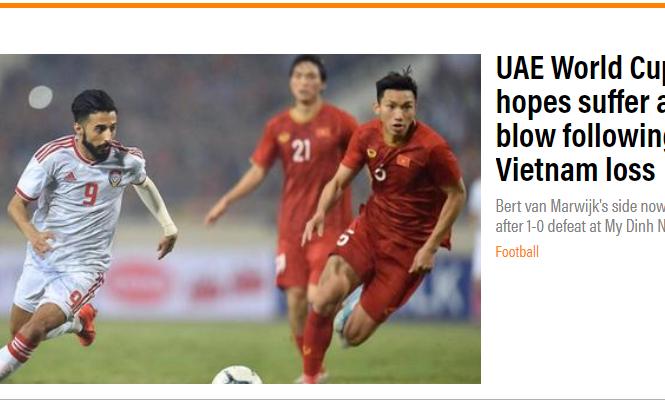 'Tuyển Việt Nam giáng đòn mạnh vào hy vọng World Cup của UAE'