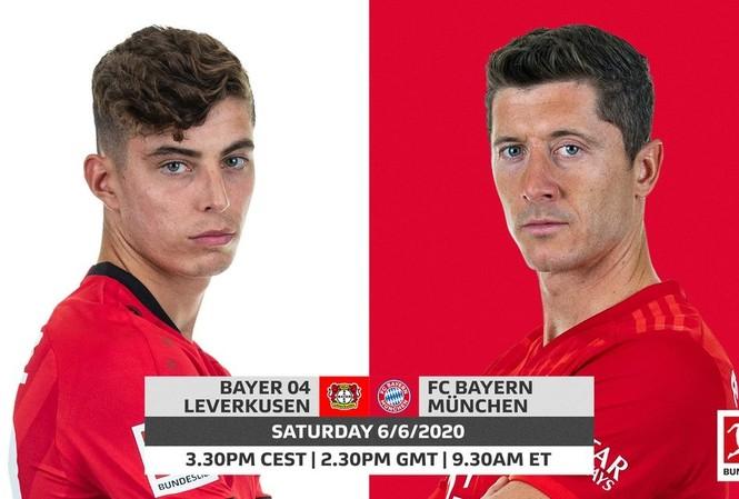 Leverkusen và Bayern Munich gặp nhau lúc 20h30 tối nay.