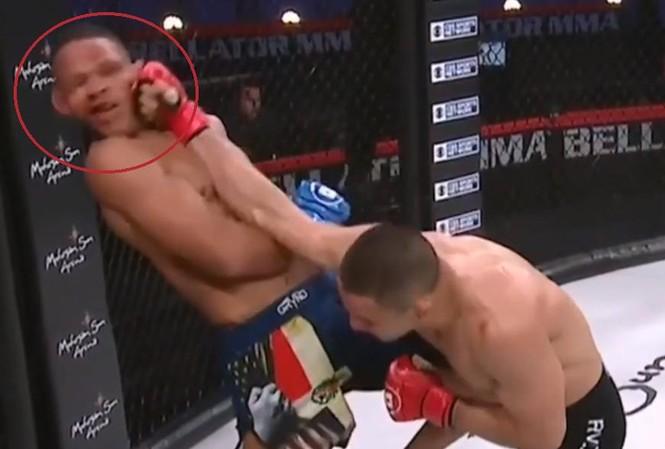 Cận cảnh cú đấm knock-out uy lực của võ sĩ lập kỷ lục giải MMA