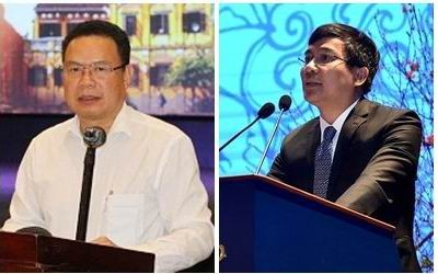 Thứ trưởng Bộ Ngoại giao Nguyễn Minh Vũ (phải) và Thứ trưởng Bộ Lao động - Thương binh và Xã hội Lê Văn Thanh (trái)