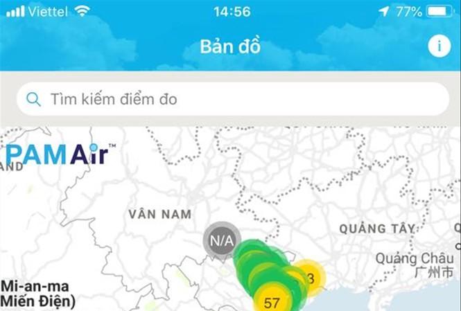 Theo hệ thống quan trắc PAMAir, ngày hôm qua, các tỉnh miền Nam không khí ô nhiễm hơn hẳn miền Bắc