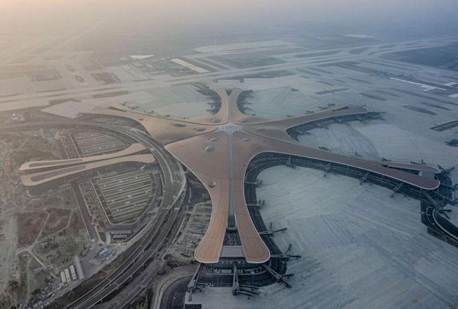 Sân bay quốc tế Đại Hưng (Bắc Kinh) nhìn từ trên cao (ảnh chụp 14/6/2019)    Ảnh: Xinhua