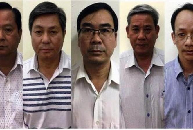 (Từ trái sang) Các bị cáo Nguyễn Hữu Tín, Đào Anh Kiệt, Lê Văn Thanh, Nguyễn Thanh Chương, Trương Văn Út sẽ hầu tòa hôm nay   Ảnh: CA