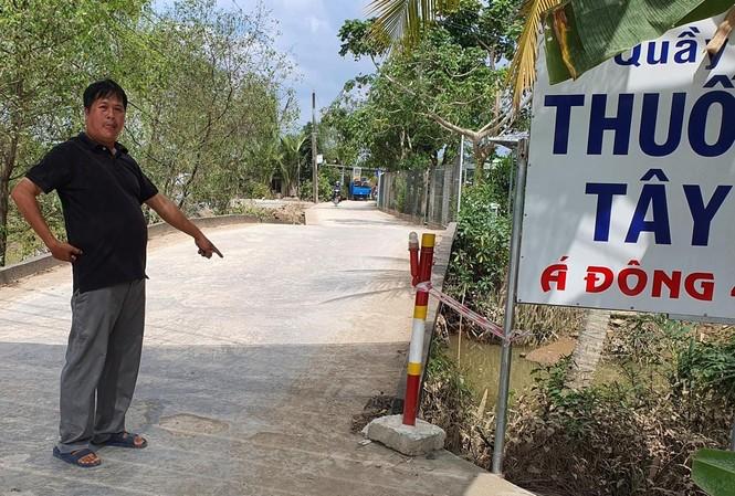 Ðoạn đường do ông Nguyễn Bá Tùng tự bỏ tiền đầu tư trên đất nhà, nhưng không đền bù, giải tỏa theo quy định