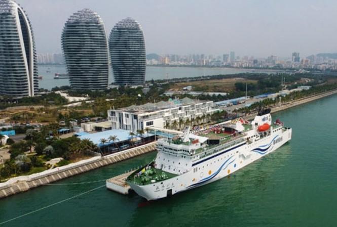 Du thuyền Changle Gongzhu đậu ở tại tỉnh Hải Nam, Trung Quốc                   Ảnh: Xinhua