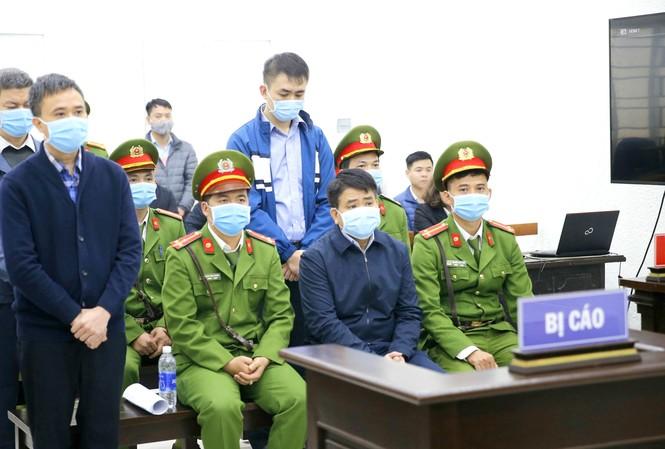 Tại phiên tòa xét xử cựu Chủ tịch UBND TP Hà Nội Nguyễn Ðức Chung và đồng phạm                      Ảnh: Doãn Tuấn