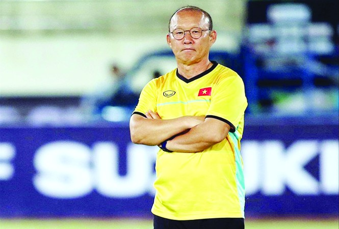 Thầy Park muốn cùng tuyển Việt Nam hiện thực hóa giấc mơ World Cup    Ảnh: CTV