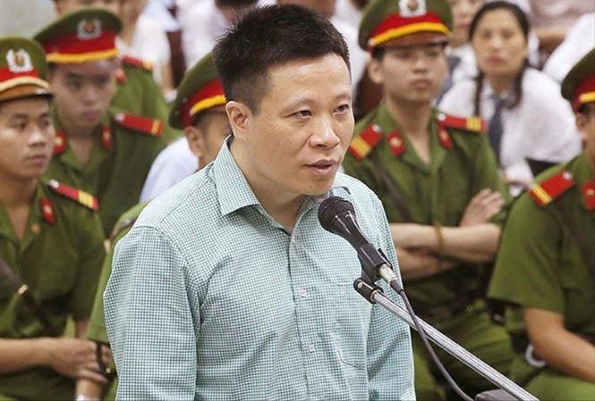 Ông Hà Văn Thắm khai báo tại tòa án Hà Nội