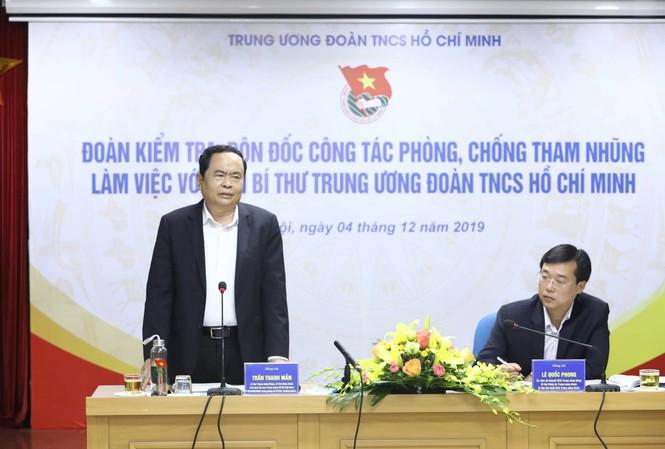 Chủ tịch Ủy ban T.Ư MTTQ Việt Nam Trần Thanh Mẫn cho rằng T.Ư Ðoàn cần chú trọng các giải pháp phòng ngừa, tố giác tham nhũng. Ảnh: AN KHOA  