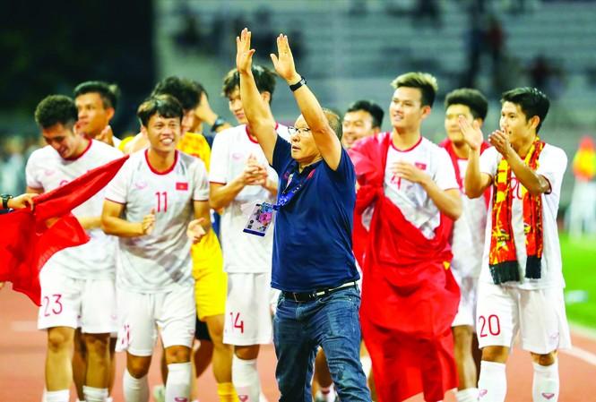 Mục tiêu tiếp theo của thầy trò HLV Park Hang Seo là tấm vé dự Olympic 2020. Ảnh: HỮU PHẠM