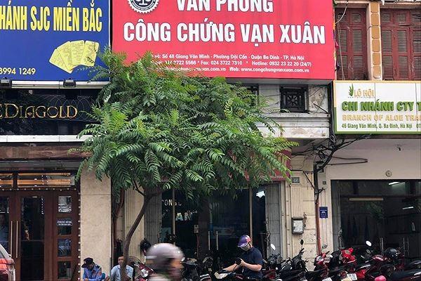 Văn phòng công chứng Vạn Xuân, nơi công chứng 2 hợp đồng mua bán căn hộ giả mạo