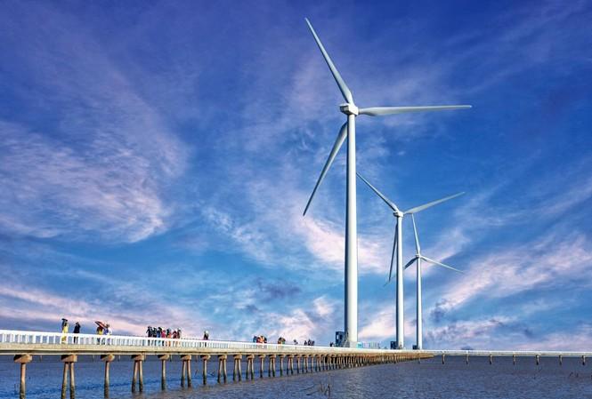 Điện gió Bạc Liêu có góp phần giải quyết tình trạng thiếu điện Ảnh: Hồng Vĩnh