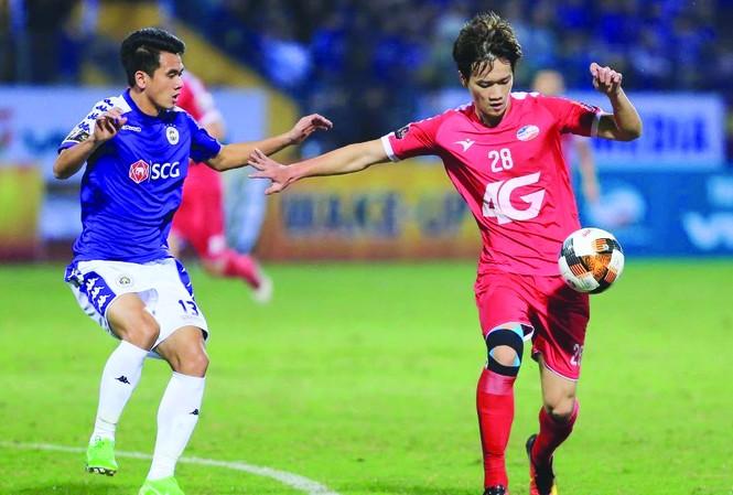 CLB Hà Nội và Viettel từng bất phân thắng bại trong  cuộc đọ sức gần  dây