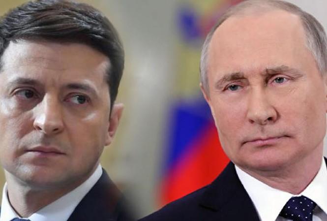 Tổng thống Ukraine Zelensky (trái) đã vài lần điện đàm với ông Putin, nhưng chưa từng gặp nhau trực tiếp ảnh: UNIAN