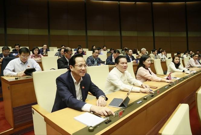 Quốc hội biểu quyết thông qua Bộ luật Lao động sửa đổi Ảnh: Như Ý