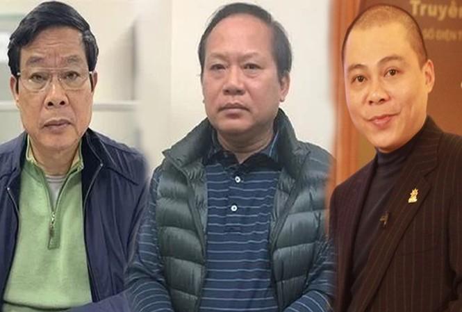 Bị cáo Nguyễn Bắc Son, Trương Minh Tuấn, Phạm Nhật Vũ -  Ảnh: PV