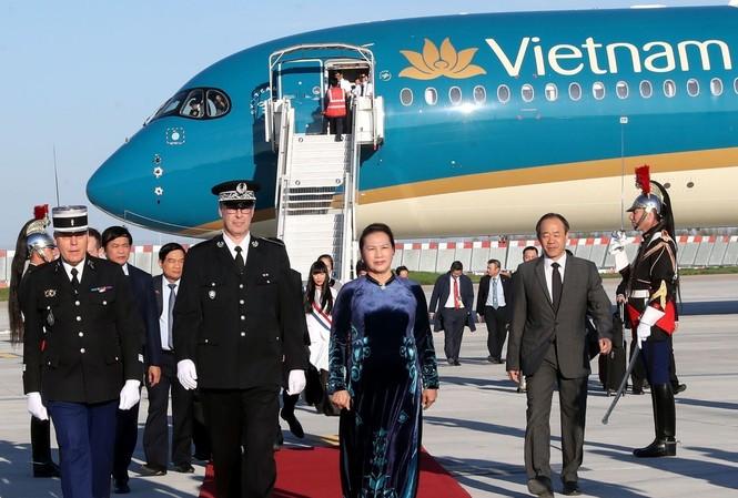 Chủ tịch Quốc hội Nguyễn Thị Kim Ngân thăm chính thức Pháp. Ảnh: TTXVN